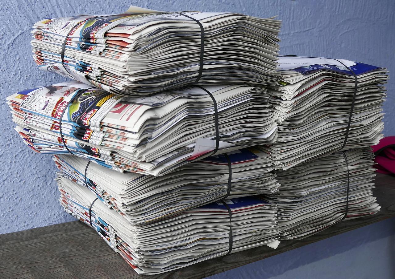 ゴミに出す新聞紙