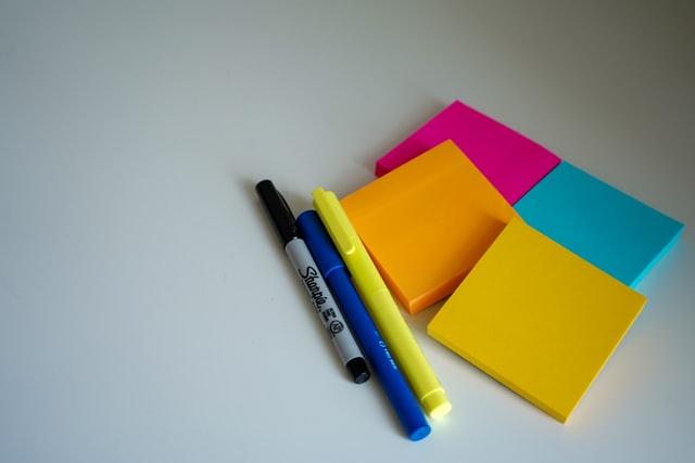 タスクの項目ごと色分け付箋利用